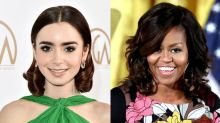 Lily Collins Fangirls Out Over a Letter from Michelle Obama
