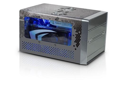Shuttle ships liquid-cooled SDXi Carbon SFF gaming PC