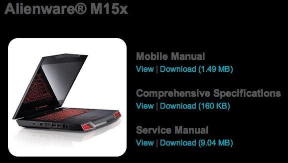 Dell leaks revamped Alienware m15x, Core i7 confirmed
