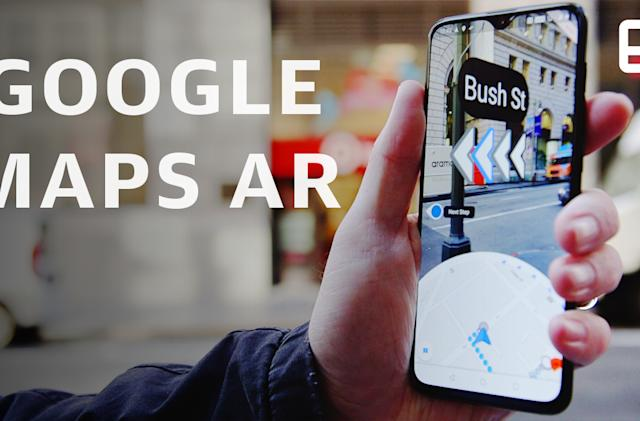 Google Maps' AR adds navigation hints to the real world