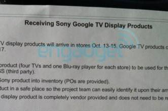 Sony's Google TVs on sale at Best Buy tomorrow, already hitting stores? (update)