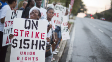 """Fast food workers strike for higher pay, dozens arrested: """"Whatever it takes"""""""