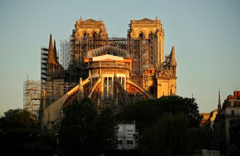 Notre-Dame was partly destroyed by fire in April last year (AFP Photo/THOMAS COEX)