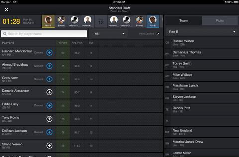 Yahoo's fantasy football apps for iOS, Android finally add live draft access