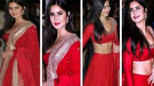 Katrina Kaif Wear Red Lehenga With Vicky Kaushal Diwali Party