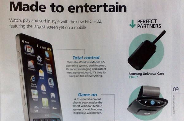 HTC HD2 makes first official appearance in O2 UK catalog