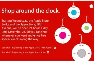 Apple SoHo NYC Store open 24/7 until Christmas