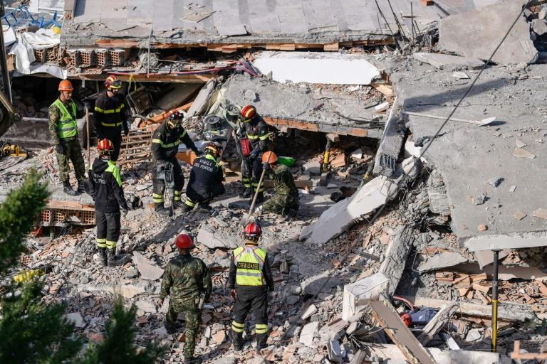 Strong aftershocks continued into Wednesday (AFP Photo/Armend NIMANI)