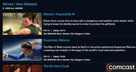 Comcast to trial simultaneous release of DVD and films on demand