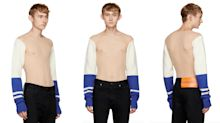 Calvin Klein frees the nipple with torso-less jumper