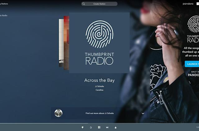 Pandora's new website points to an on-demand future