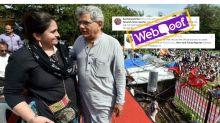 Woman in Photo Not NYT Reporter With Sitaram Yechury at Sabarimala