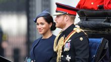 Prince Harry tells Meghan to 'turn around' at Trooping the Colour