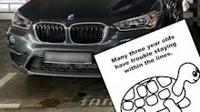 BMW driver gets cheeky note over common parking gripe