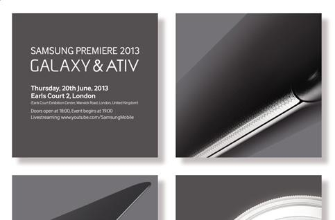 Samsung teases new Galaxy and ATIV devices for upcoming London event