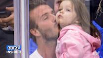 David Beckham's Adorable Kiss Cam Surprise With Baby Harper