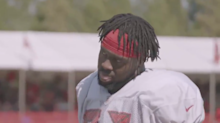 Buccaneers player tries out several celebration dances in front of refs to test what he can get away with in great 'Hard Knocks' clip