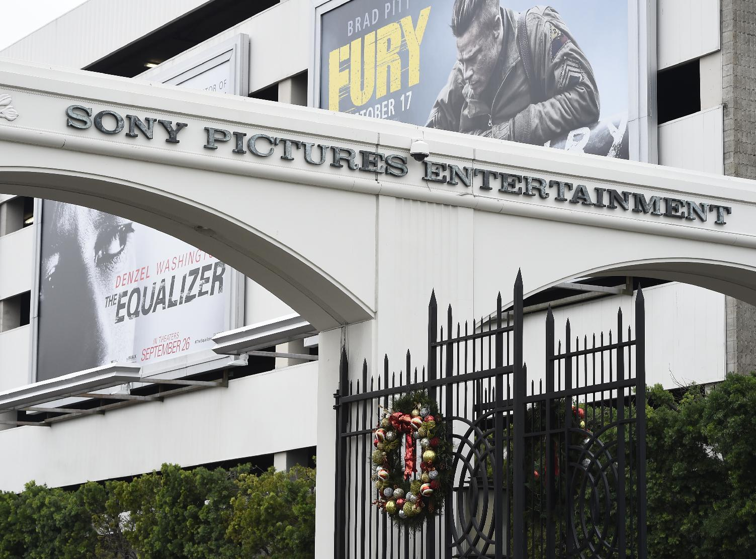 The entrance of Sony Pictures Studios in Culver City, California, pictured on December 16, 2014 (AFP Photo/)