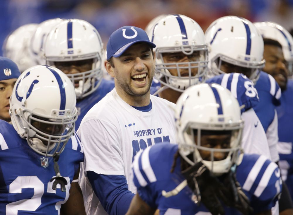 It has been awhile since we've seen a healthy Andrew Luck on a football field. (AP)