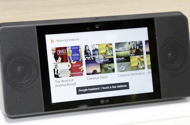 LG puts Google Assistant in its own touchscreen-equipped speaker