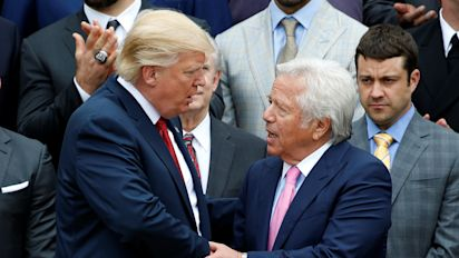 Trump weighs in on Kraft's charges in prostitution bust