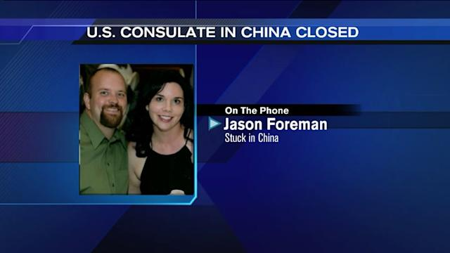 Phoner: Couple stuck in China due to safety concerns at US Consulate
