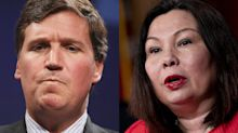 Army veteran Sen. Tammy Duckworth hits back at Tucker Carlson for claiming she hates America: 'Walk a mile in my legs'