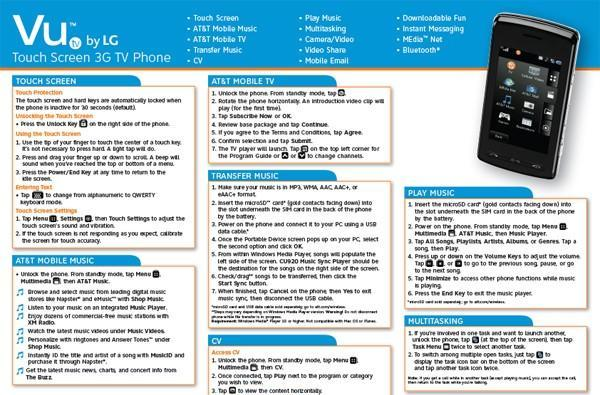 Touchy TV: quick start guides surface for the LG Vu
