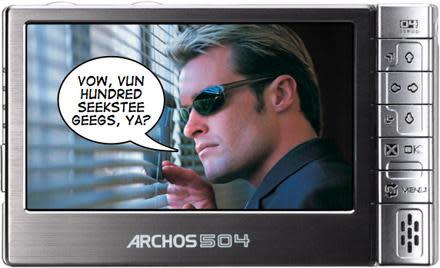 Archos 504 hits 160GB mark