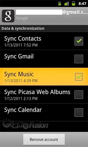 Android getting Google Music sync in Gingerbread?