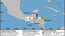 Nana se debilita rápidamente sobre el norte Guatemala y el sur de México