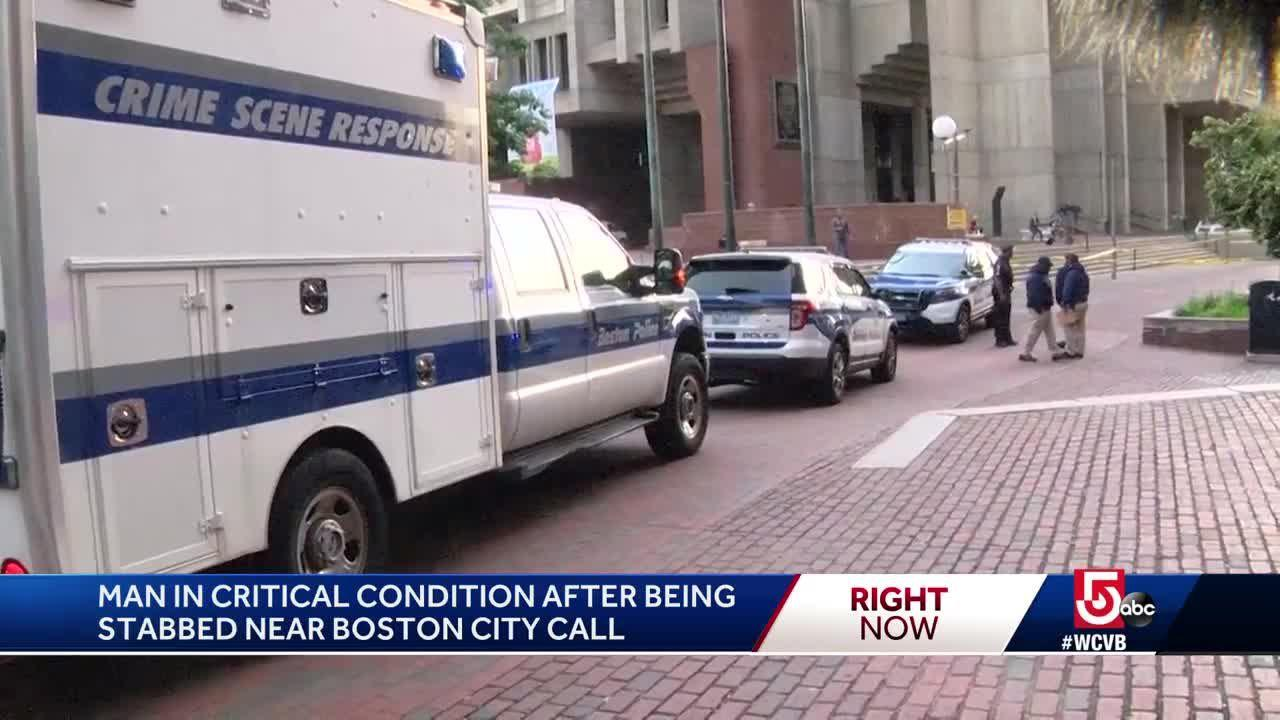 Man stabbed multiple times on City Hall Plaza, Boston EMS says