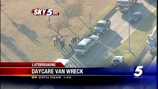 Daycare van wreck reported in Southwest OKC