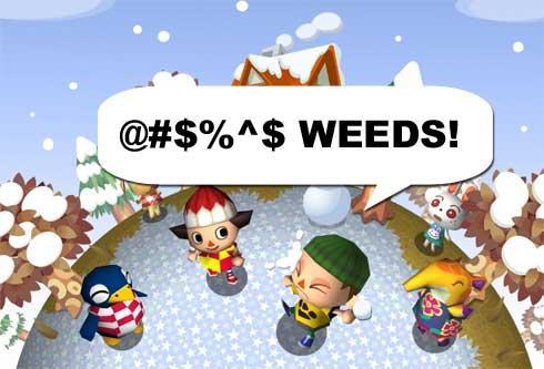 Today's most tedious video: Picking weeds in Animal Crossing