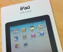 Apple Stores now selling iPad gift cards