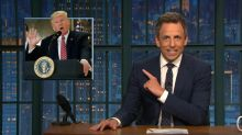 Seth Meyers calls Trump's Charlottesville press conference 'clinically insane'