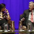 John Bolton rebuked for withholding Trump testimony in new public event