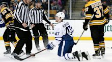 Leo Komarov will be seeing a lot more of Brad Marchand