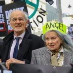Julian Assange: Protesters including Vivienne Westwood and Roger Waters march on parliament ahead of Wikileaks founder's extradition hearing