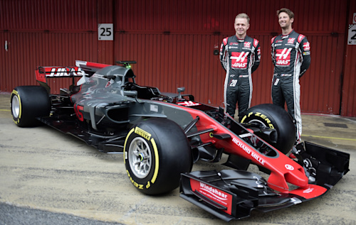 Kevin Magnussen and Sebastian Grosjean