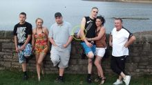 Can you spot ghost photobombing this family holiday snap?