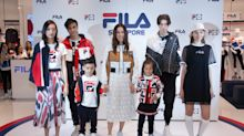 Linda Chung graces the grand opening of FILA's largest store in Singapore at Jewel Changi