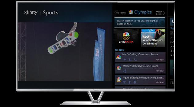 Comcast is bringing its online Olympics coverage to Xfinity TV subscribers