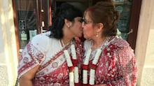 Hindu and Jewish women wed in what's thought to be Britain's first interfaith lesbian marriage