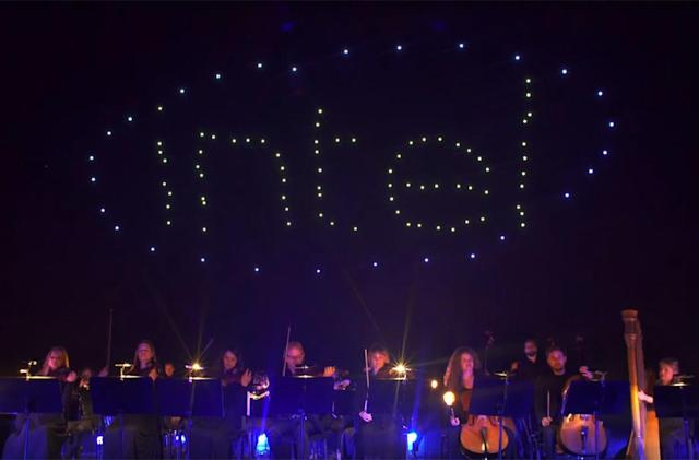 Watch Intel's record-setting drone light show