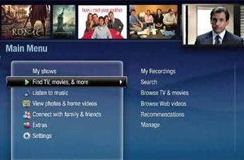Potential new TiVo user interface shown on video