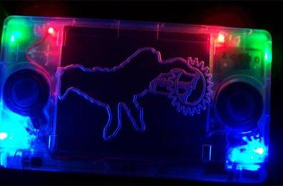 Unicycle Llama DS Lite mod ready to rave