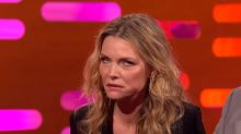 Michelle Pfeiffer shares it's a 'little embarrassing' to be mentioned in 'Uptown Funk'