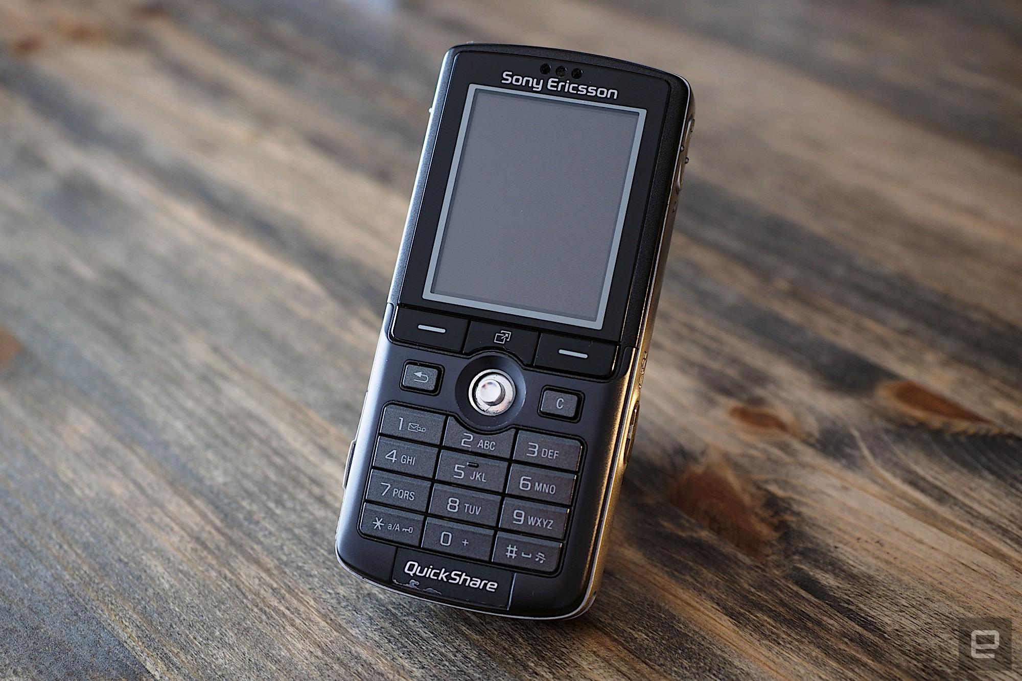 An utterly gorgeous hero shot of Sony Ericsson's K750i from 2005.