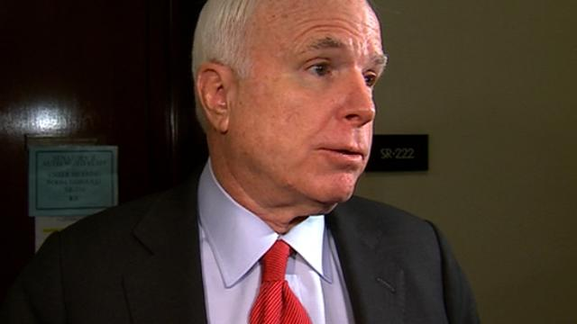 McCain disappointed in DOD briefing on SS scandal